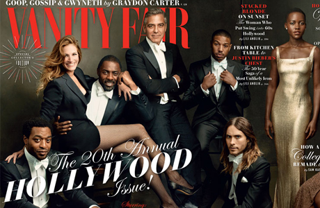 Idris Elba is the centerpiece of Vanity Fair's Hollywood Issue. (Photo via Vanity Fair)