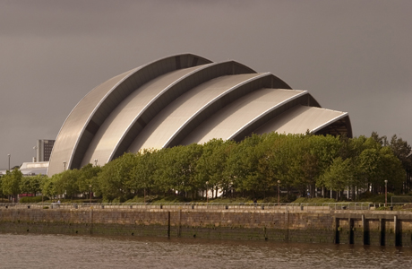 Auditorium (Armadillo), Glasgow, Scotland. Photo by: Rolf Richardson/Robert Harding /AP Images
