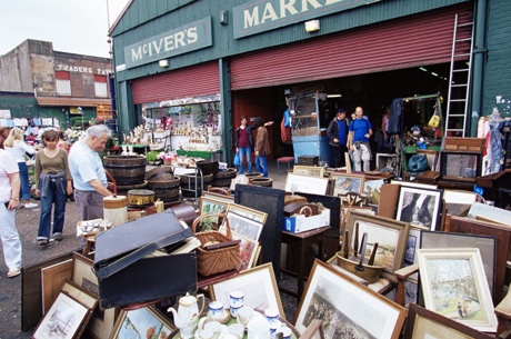 Barras Flea Market on Saturdays, Glasgow, Scotland. (adid Levy/Robert Harding /AP Images)