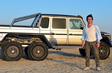 Richard Hammond with Mercedes (TopGear.com)