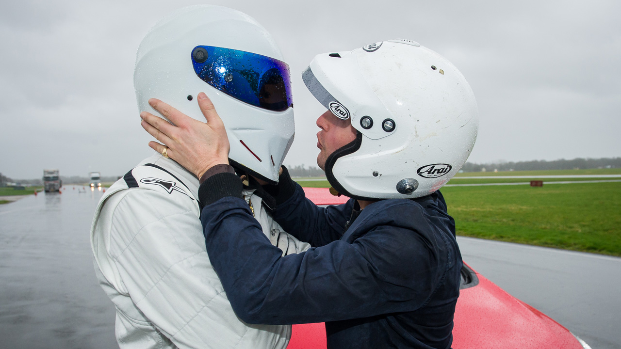 The Stig and James Blunt; the Star in the Reasonably Priced Car