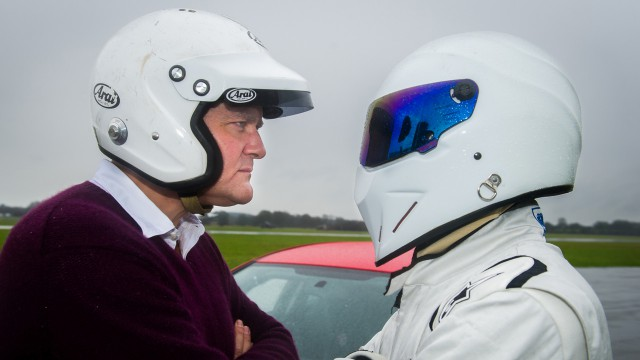 Hugh Bonneville and The Stig:stern.