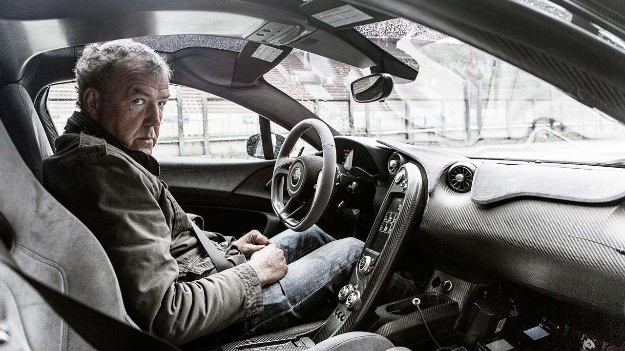 Jeremy Clarkson in a McLaren P1 in Belgium