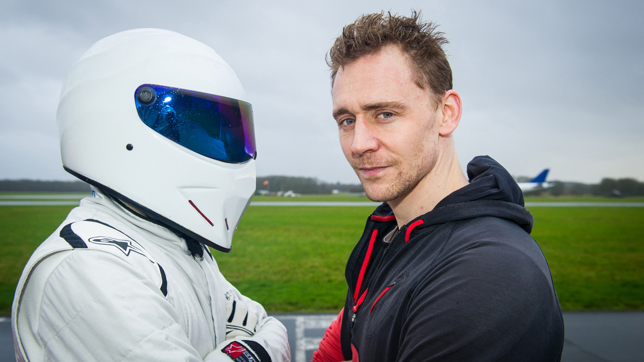 The Stig and Tom Hiddleston