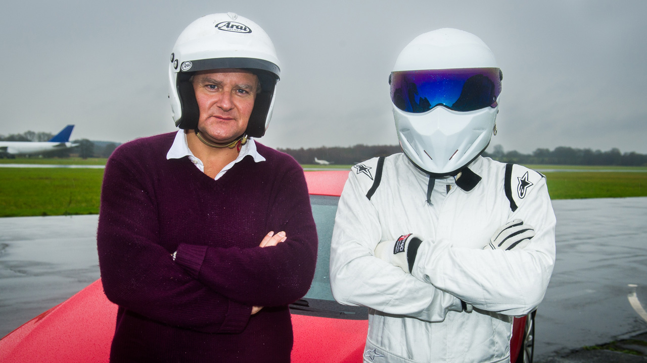 Hugh Bonneville and The Stig