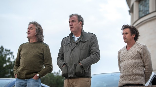 James May, Jeremy Clarkson and Richard Hammond looking out over the site of the charge of the light brigade