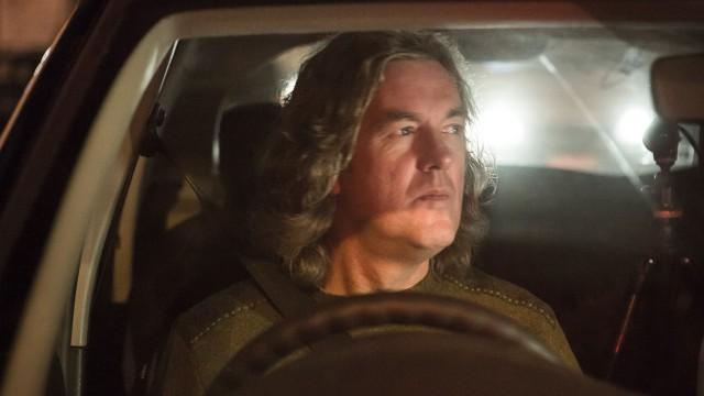 James May driving a Dacia Sandero at night