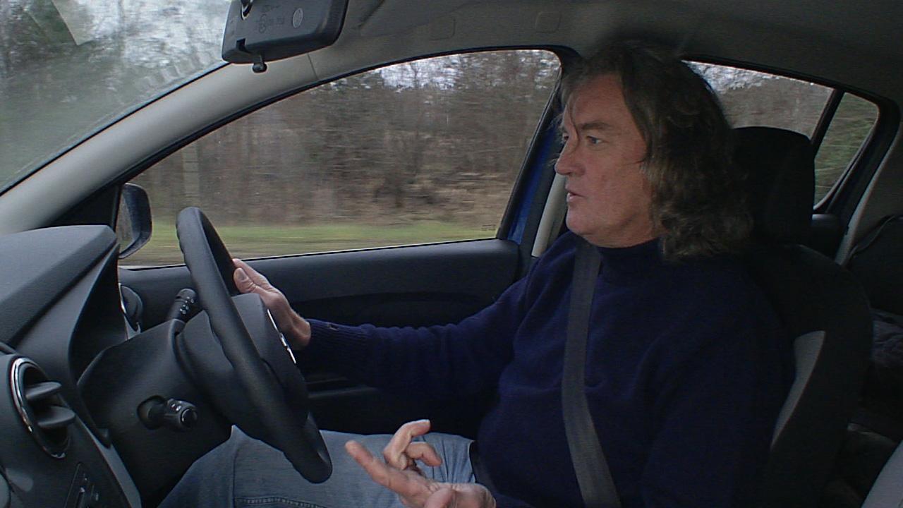 James May in his Dacia Sandero driving to Chernobyl