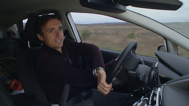 Richard Hammond in his Ford Fiesta driving to Chernobyl