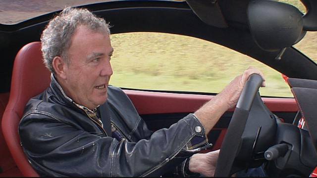 Jeremy Clarkson driving in the Disco Volante