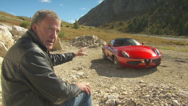 Jeremy Clarkson with the Disco Volante
