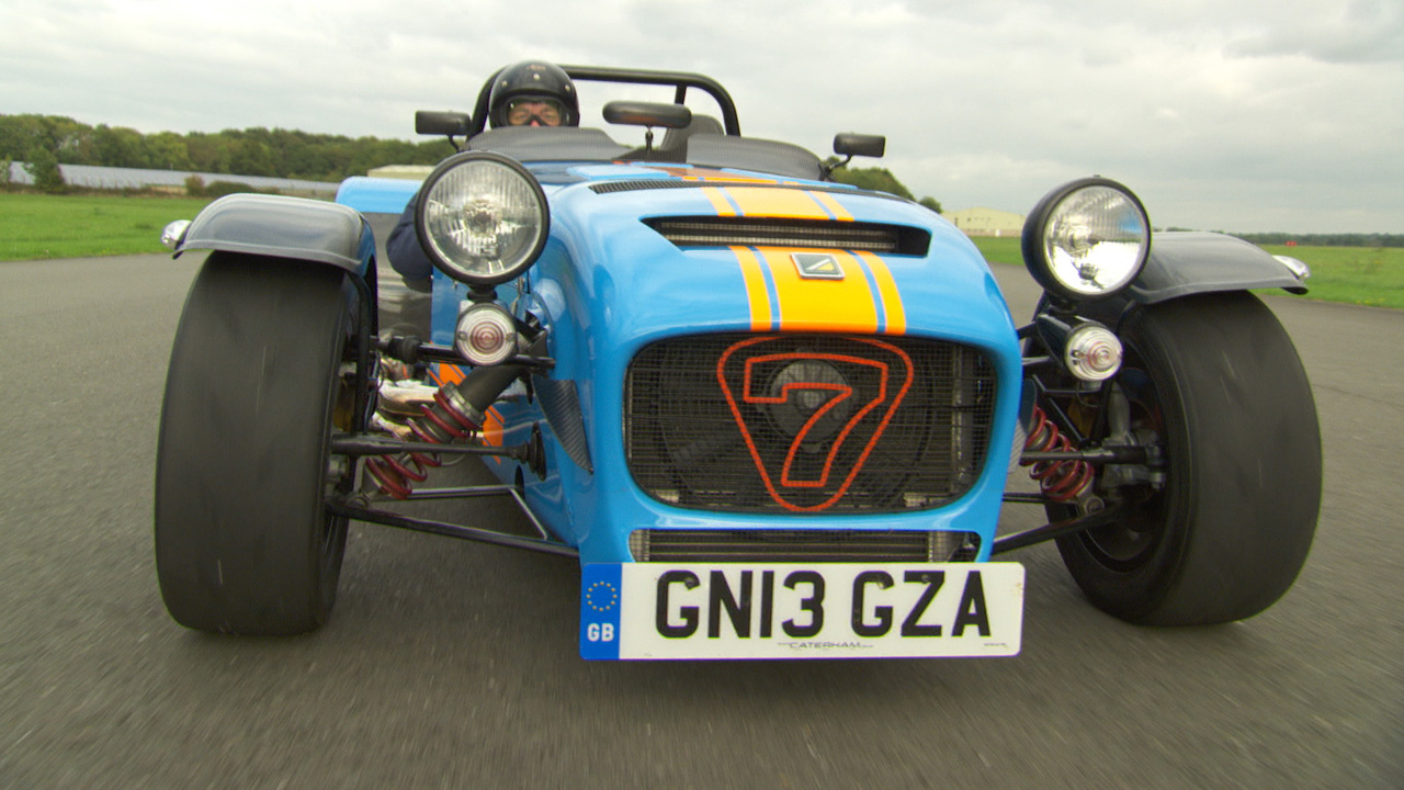 James May in the Caterham 620R at The Top Gear Test Track