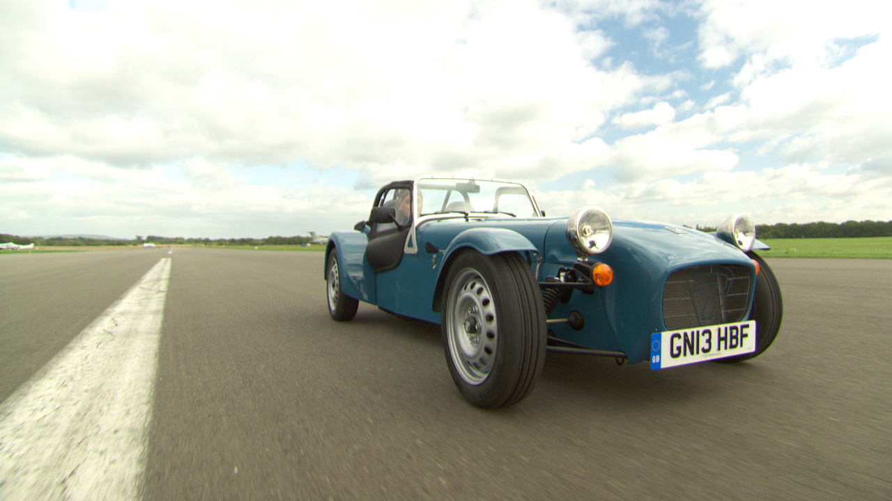James May in the Caterham 160 at The Top Gear Test Track