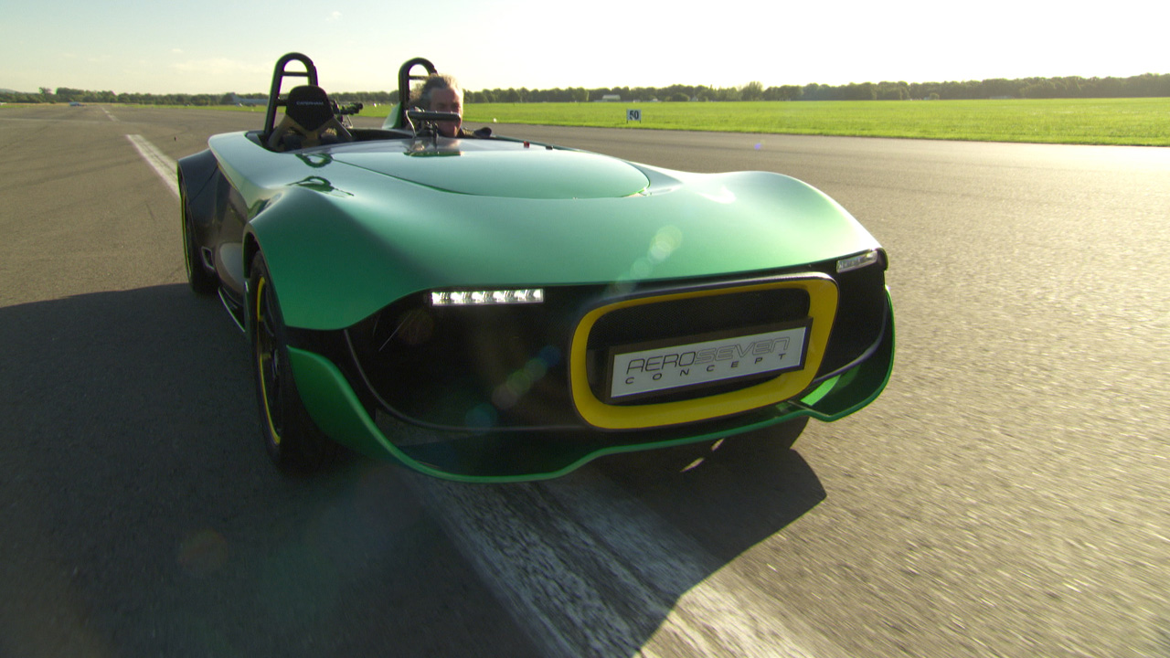 James May in the Caterham Aeroseven at The Top Gear Test Track