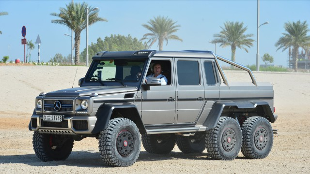 Richard Hammond driving the Mercedes Benz G63 6x6 in Abu Dhabi