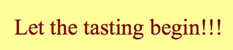 Taste Test Sign