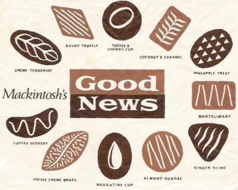 "Mackintosh's Good News selection. See ""Savoy Truffle"" for details."
