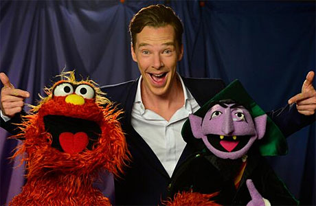 Benedict Cumberbatch and the Count (Pic: Twitter/PBS)