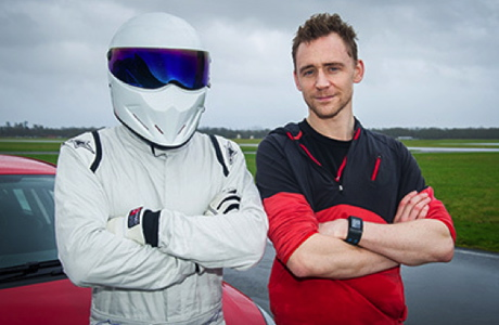 Tom Hiddleston, right, with The Stig. (TopGear.com)