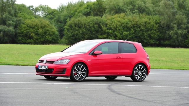 The Volkswagen Golf GTI at the Top Gear Test Track