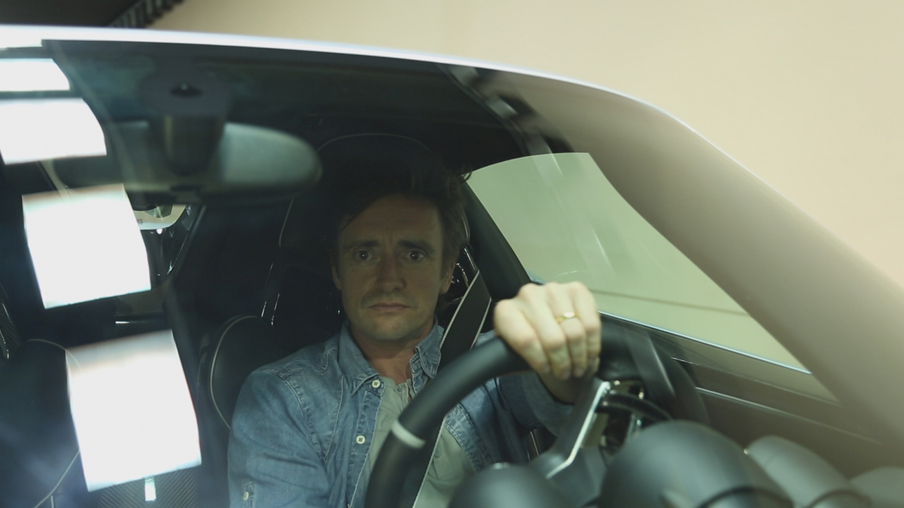 Richard Hammond in the Porsche 918 at Yas Marina Grand Prix circuit in Abu Dhabi