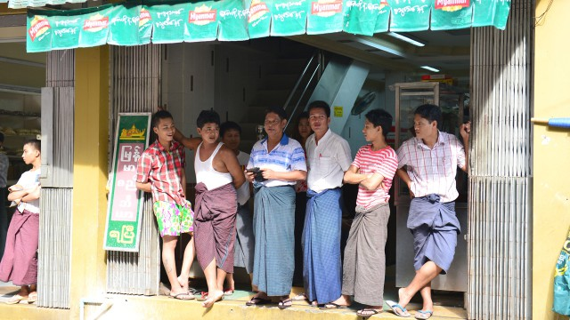 Locals in Yangon, Burma