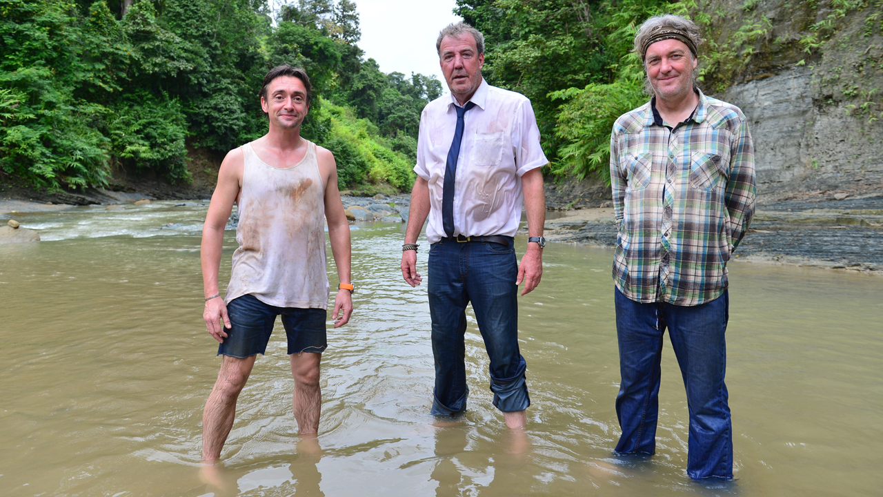 Richard Hammond, Jeremy Clarkson and James May heading north through Burma