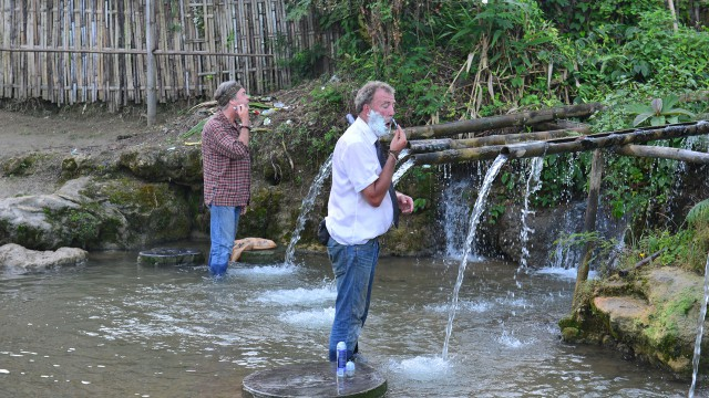 James May and Jeremy Clarkson freshen up in Burma