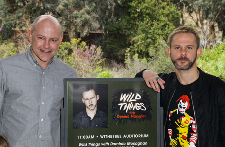 Dominic Monaghan and comedian Rob Corddry. (Photo: Ben Horton/Getty Images for BBC AMERICA)
