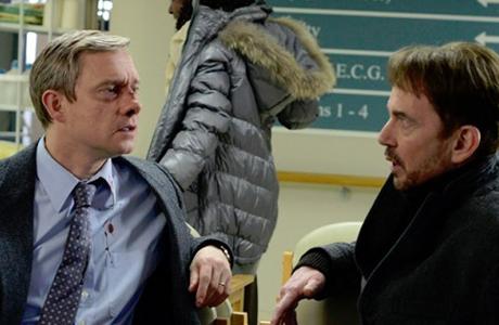 Martin Freeman and Billy Bob Thorton team up in Fargo. (FX)