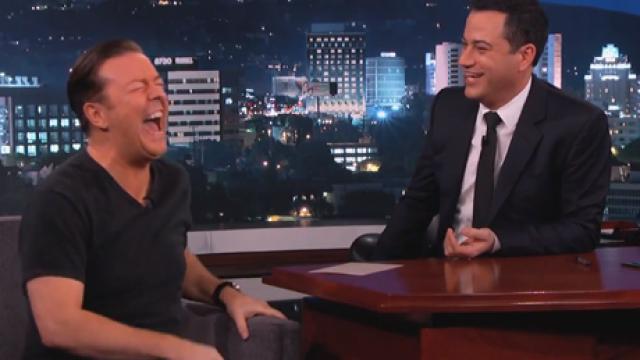 Ricky Gervais, Jimmy Kimmel