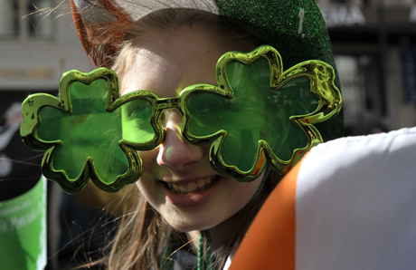 St Patrick's Day celebrations.A girl takes part in The Mayor of London's St Patrick's Day Parade and Festival. Picture date: Sunday March 14, 2010. Photo credit should read: Tim Ireland/PA URN:8508669