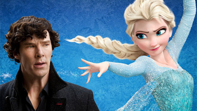 Benedict Cumberbatch and Princess Elsa from 'Frozen'