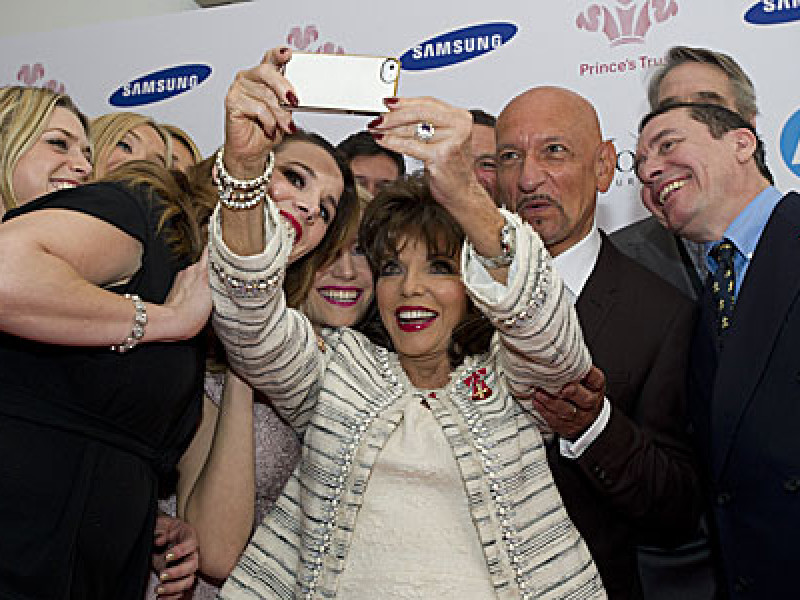 Joan Collins and friends