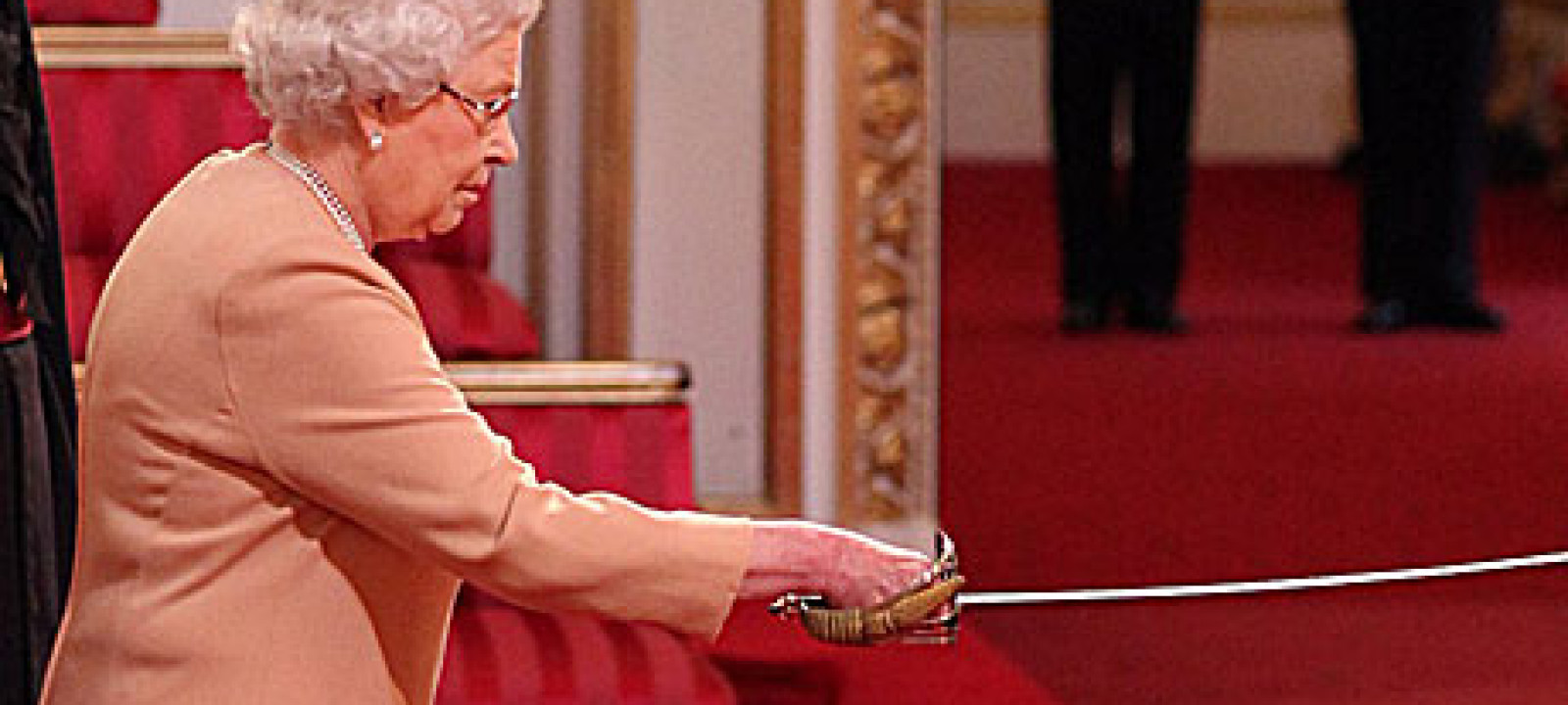 The Queen and her knighting sword