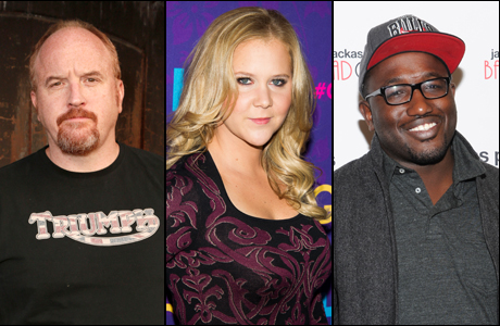 U.S. comedians to watch: Louis CK, Amy Schumer, Hannibal Buress. (Photos: AP)
