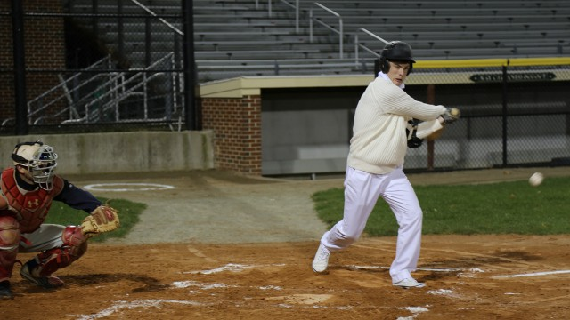 Georgie attempts to hit a homer