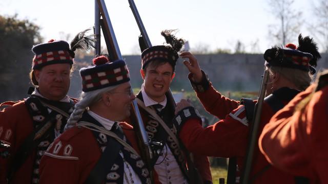 Georgie in traditional British Army attire