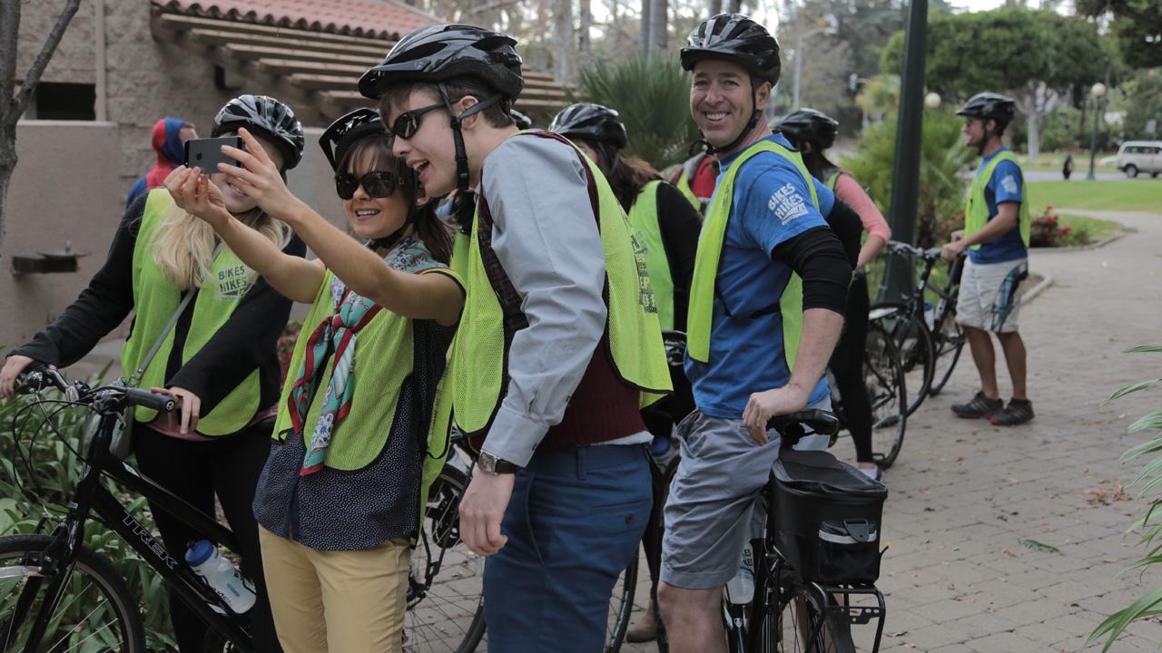 Bike tour selfie