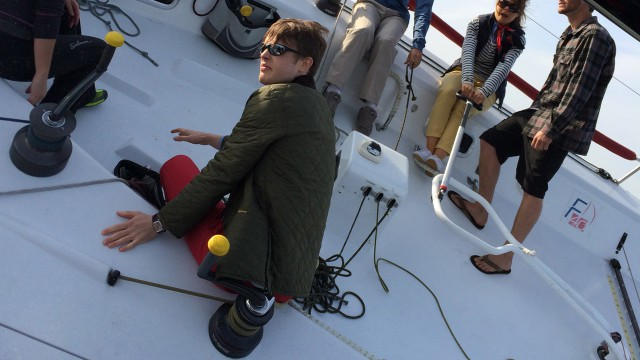 Georgie takes a rest while sailing in LA
