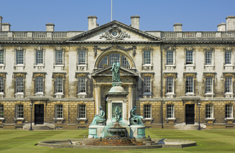 Gibbs Building with statue of King Henry VI, Kings College, Camb ... Photo by: Neale Clarke/Robert Harding /AP Images