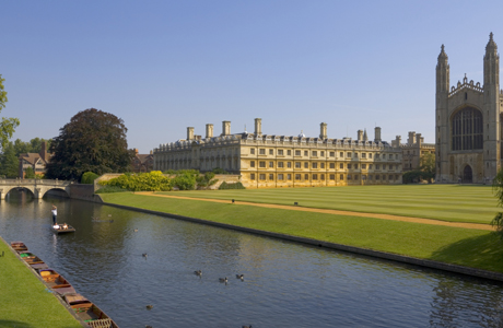 Clare College and Kings College chapel, Cambridge, Cambridgeshir ... Photo by: Neale Clarke/Robert Harding /AP Images