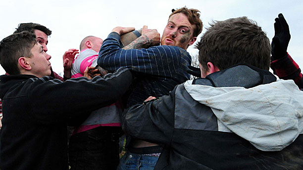 The full horror of bottle kicking in action (Press Association via AP Images)