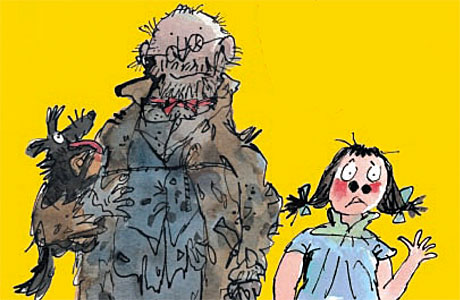 Quentin Blake's illustration from the cover of Mr Stink, by David Walliams