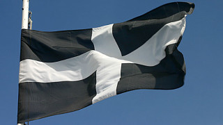 The flag of St. Piran