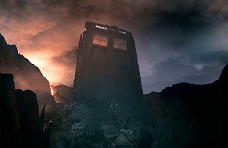 The broken TARDIS on Trenzalore (Pic: BBC)