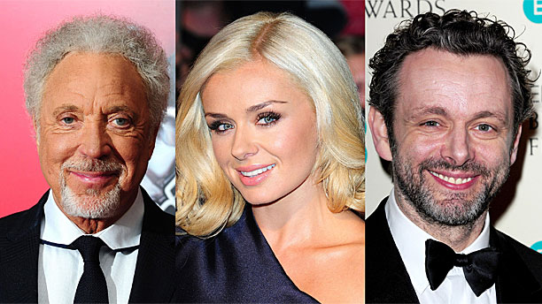 Sir Tom Jones, Katherine Jenkins and Michael Sheen (Press Association via AP Images)