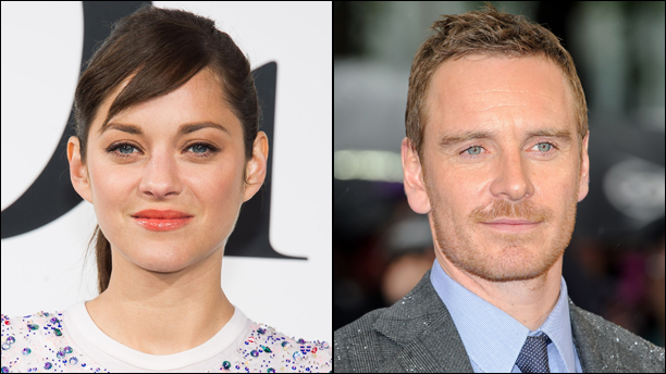 Marion Cotillard (left) and Michael Fassbender. (Photos via AP)