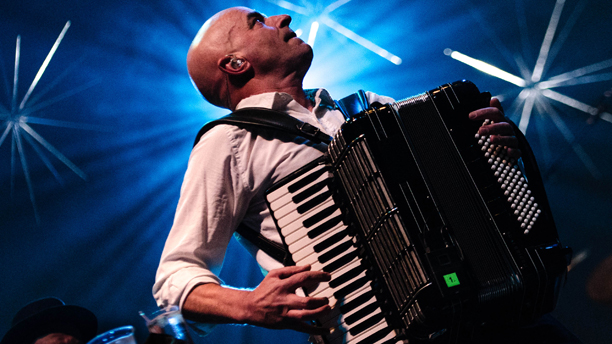 James Fearnley performing with the Pogues in 2012. (Photo: Rex Features via AP Images)
