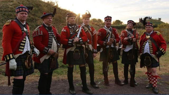 Fort Mifflin's re-enactment British solider brigade